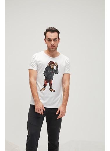 Bad Bear Erkek Ape Tee Tişört 20.01.07.010 Beyaz